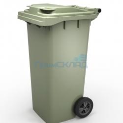 Мусорный контейнер 120л (бак, на колесах, пластиковый с крышкой)