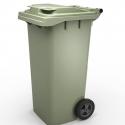 Мусорный контейнер 120л (бак на колесах пластиковый с крышкой)