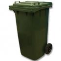 Мусорный контейнер 240л (бак на колесах пластиковый с крышкой)