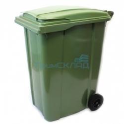Мусорный контейнер 360л (бак на колесах, пластиковый с крышкой)