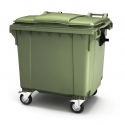 Мусорный контейнер с крышкой 1100 литров на колесах