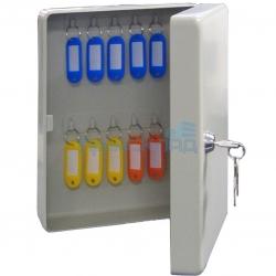 Металлическая ключница KB-20 настенная, с замком, на 20 ключей