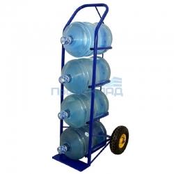 Тележка 2-колесная для перевозки бутылей с водой ВД-4 (4 балона по 19 литров)