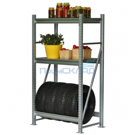 Стеллаж для гаража РП 50 211560 (3 полки, без настила) 500 кг на полку