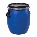 Бочка полиэтилен 20л. крышка, хомут, ручки, синяя(ЗТИ)