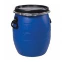 Бочка полиэтилен 48л. крышка, хомут, ручки, синяя(ЗТИ)