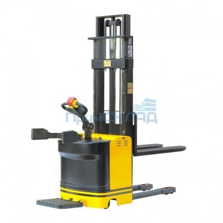 Штабелер электрический самоходный с платформой 1,5т 3,5м ES15DE