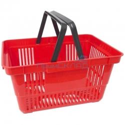 Корзина покупательская пластиковая красная (20 литров)