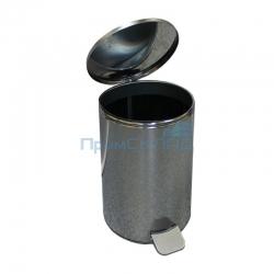 Урна педальная круглая 20 л (Хром) с крышкой