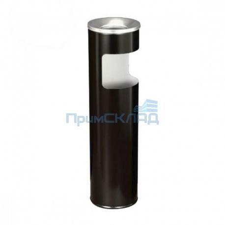 Корзина для бумаг с пепельницей К150H (черная)