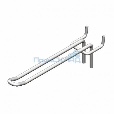 Крючок двойной хромированный 150 мм