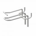 Крючок двойной с ценникодержателем хромированный 150 мм