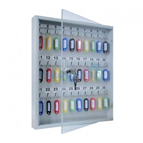 Ключница с прозрачной дверцей из оргстекла КЛС-30