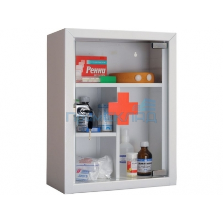 Аптечка со стеклянной прозрачной дверцей AMD 39G