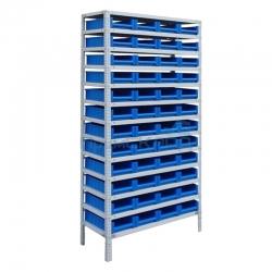 Стеллаж для складских ящиков и лотков