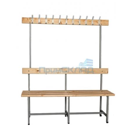 Скамья для раздевалки с вешалкой СВТ-5