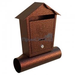 Индивидуальный почтовый ящик «Домик» (медь)