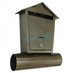 Индивидуальный почтовый ящик «Домик» (бронза)