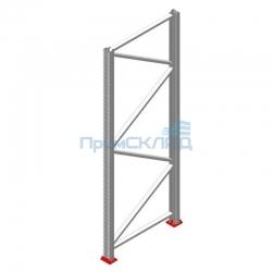 Рама для фронтального паллетного стеллажа РП90x1100x3000 (высота 3 метра)